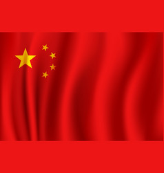 Flag of china in 3d format vector