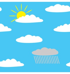 Simless clouds in heaven vector