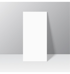 White blank stationary near the wall with shadow vector