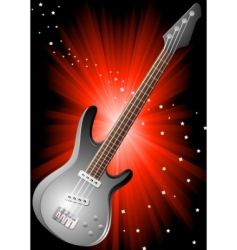 vector background with guitar vector image