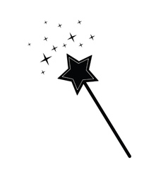 Magic wand black vector