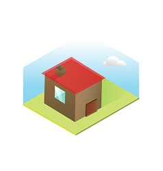 Scandinavian house icon preview vector