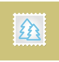 Forest stamp vector