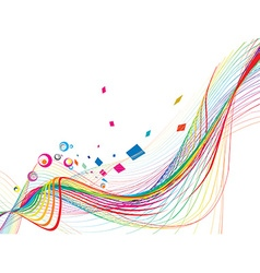 Abstract rainbow wave line vector