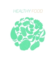 Green vegetables healthy food text vector
