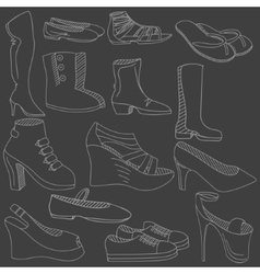 Shoes chalk vector image