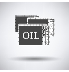Oil tank storage icon vector
