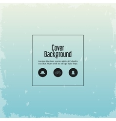 Blue and grunge wallpaper icon cover background vector