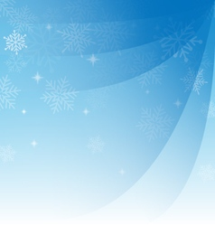 Abstract blue christmas background with snowflakes vector image vector image