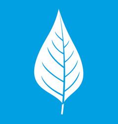 Apple tree leaf icon white vector