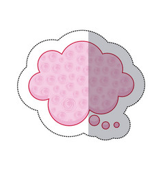 callout for dialogue shape of cloud sticker with vector image vector image