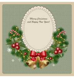 christmas invitation vector image