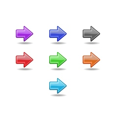 Colored straight arrows set vector