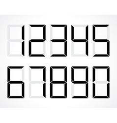 Digital numbers vector