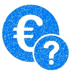 Euro status grainy texture icon vector