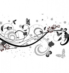 floral fantasy pattern vector image vector image