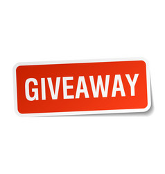 Giveaway square sticker on white vector