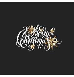 golden stars and handwritten lettering vector image vector image