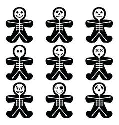 Halloween skeleton vector