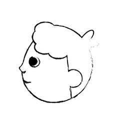 Head baby character image vector