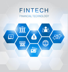 Investment financial technology icons vector