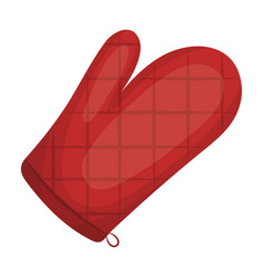 kitchen glovebbq single icon in cartoon style vector image