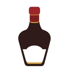 liquor bottle icon vector image vector image