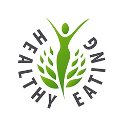 logo girl for healthy food vector image vector image