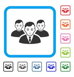 Men framed sadly icon vector