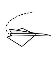 Paper plane free time leisure outline vector