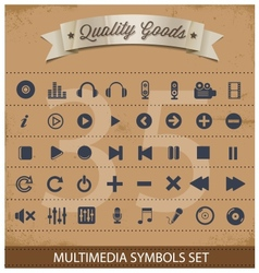 pictogram multimedia symbols set vector image