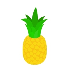Pineapple tropical fruit icon isometric 3d style vector image vector image