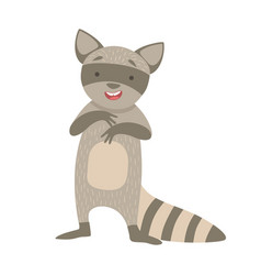 raccoon cute toy animal with detailed elements vector image