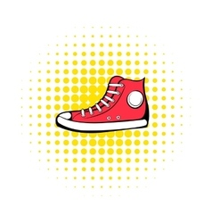 Red sneaker comics icon vector image vector image