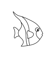 Sea fish animal vector