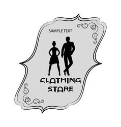 Signboard of clothing store for men and women vector image