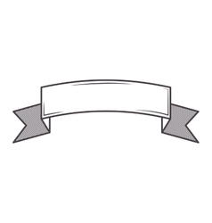 Silhouette label up with ribbon on gray color vector