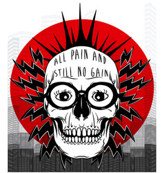 tee graphic skull poster vector image