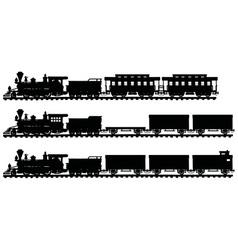 Vintage american steam trains vector