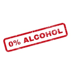0 percent alcohol text rubber stamp vector