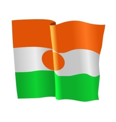 Flag of niger vector