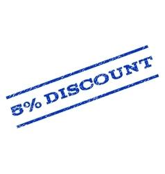 5 percent discount watermark stamp vector