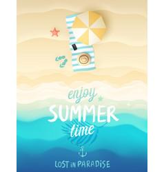 Tropical beach poster vector