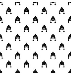 warm hat pattern vector image