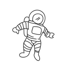 Astronaut cartoon doodle vector