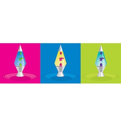 Lava lamps vector