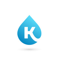 Letter k water drop logo icon design template vector