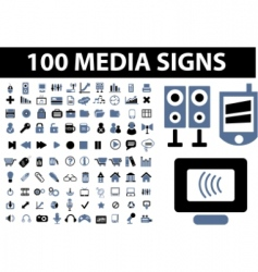 media signs vector image