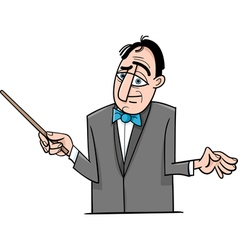 Orchestra conductor cartoon vector