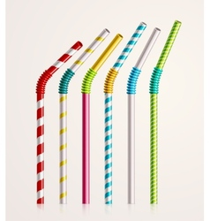 Drinking straws vector